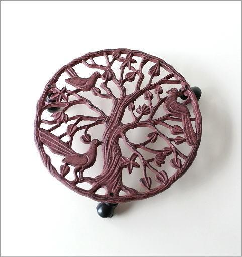 アイアンのプランターキャリー レッドツリー(1)