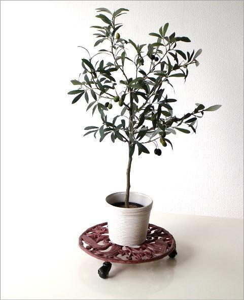 アイアンのプランターキャリー レッドツリー(3)
