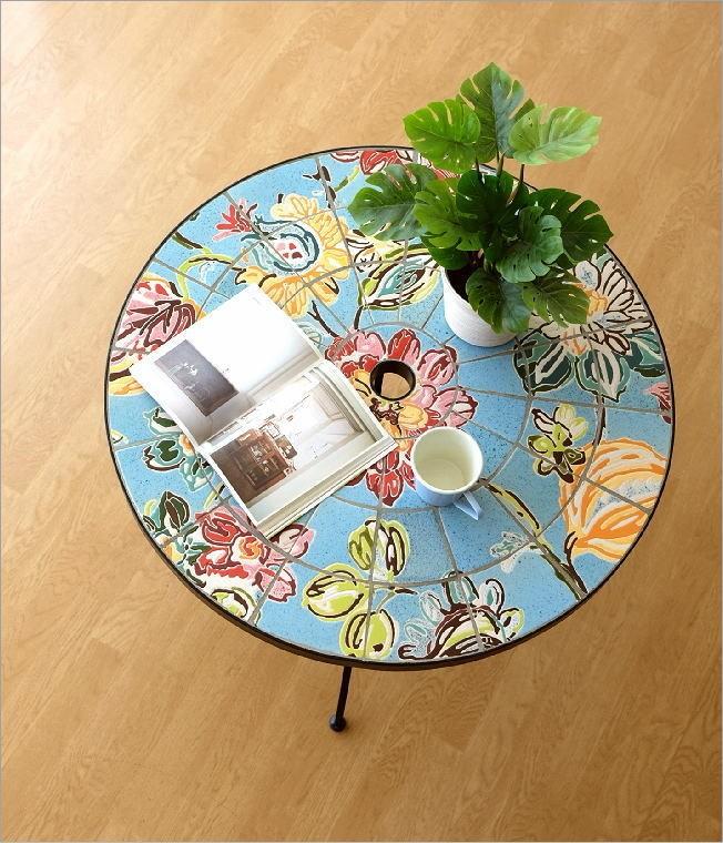 ガーデンテーブル モザイクフラワー(1)