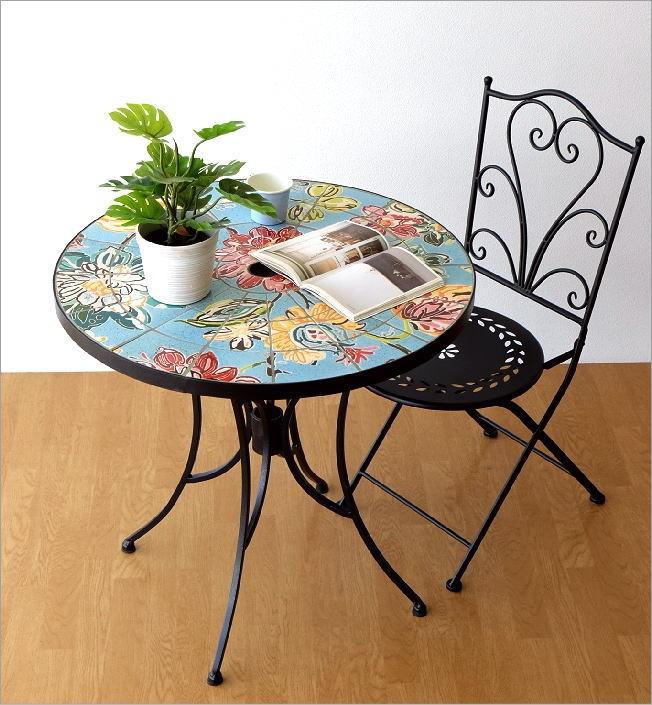 ガーデンテーブル モザイクフラワー(5)
