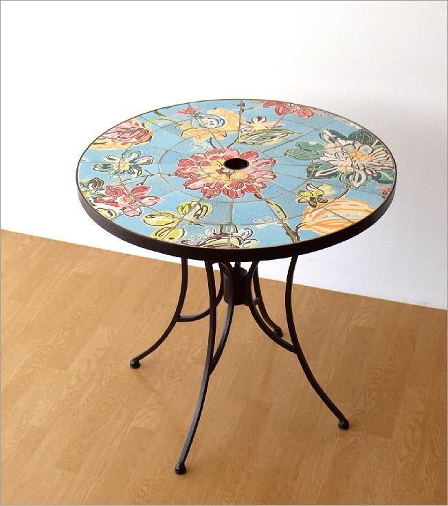 ガーデンテーブル モザイクフラワー(6)