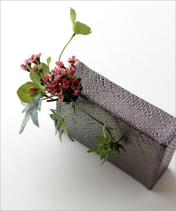 和陶器ベース(花瓶) シンプルな角(1)