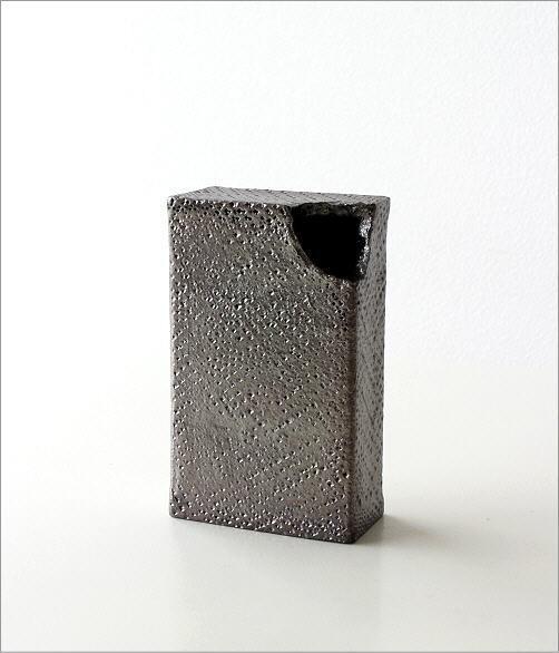 和陶器ベース(花瓶) シンプルな角(5)