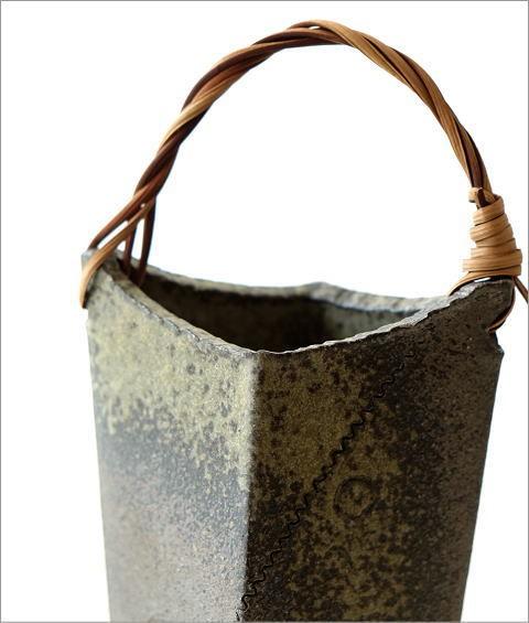 和陶器ベース 蔓付きB(2)