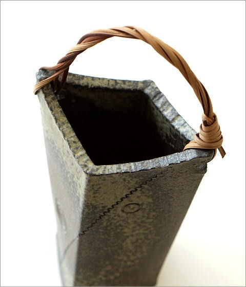 和陶器ベース 蔓付きB(3)