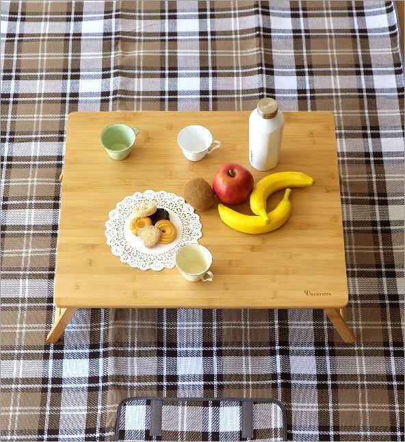 折り畳みバンブーテーブル L(1)