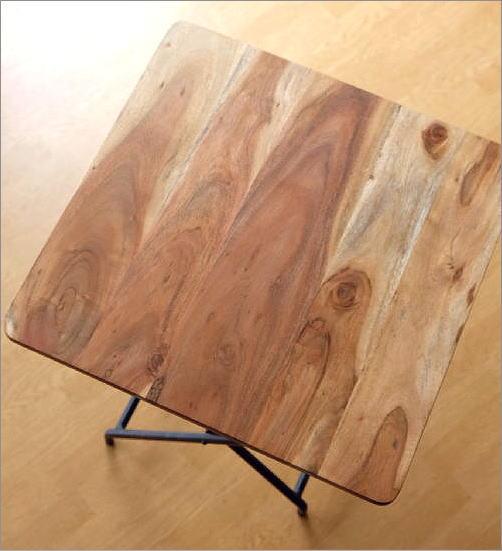 アイアンとウッドの折りたたみテーブル(2)