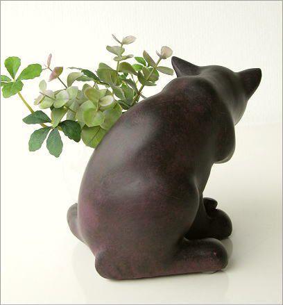 花瓶 ガラス フラワーベース ねこ雑貨 子ネコのミニベース しっぽネコ(3)
