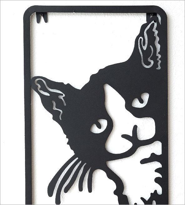 アイアンの壁飾り のぞきネコ(1)