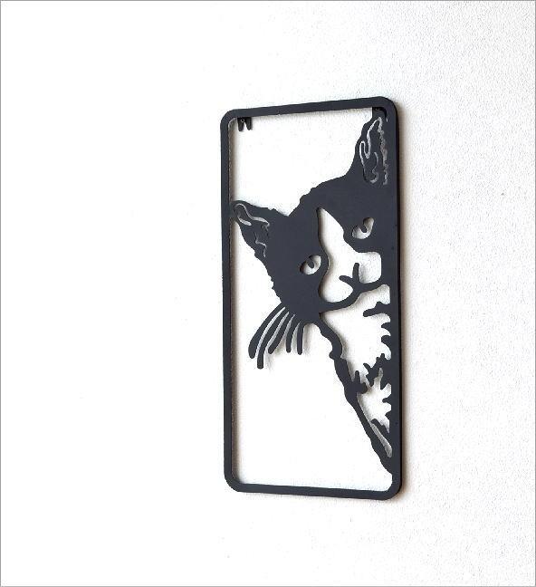 アイアンの壁飾り のぞきネコ(2)