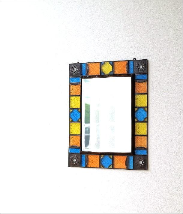 エキゾチックなガラスモザイクミラー(1)