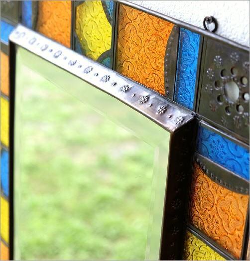 エキゾチックなガラスモザイクミラー(3)