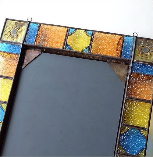 エキゾチックなガラスモザイクミラー(5)