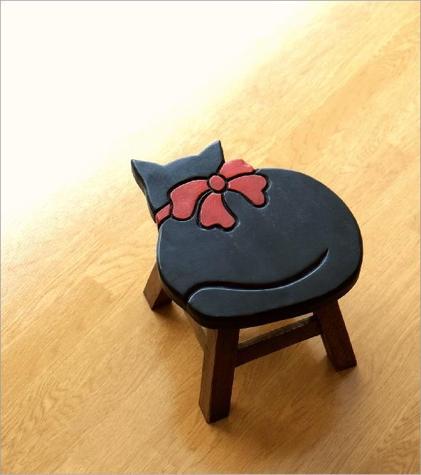 子供椅子黒ネコさん(1)
