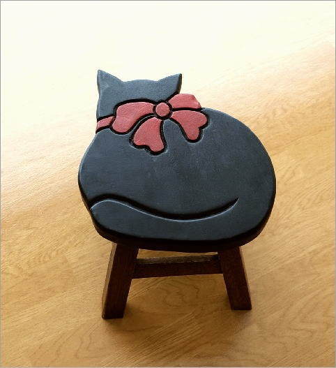 子供椅子黒ネコさん(2)