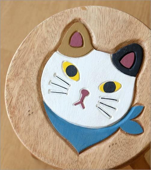 子供椅子 スカーフ白ネコさん(2)