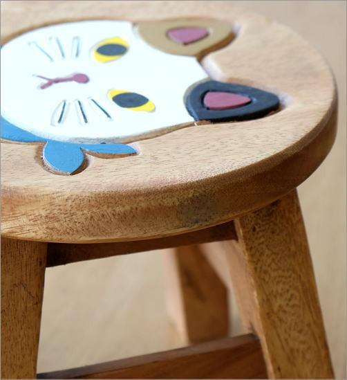 子供椅子 スカーフ白ネコさん(3)