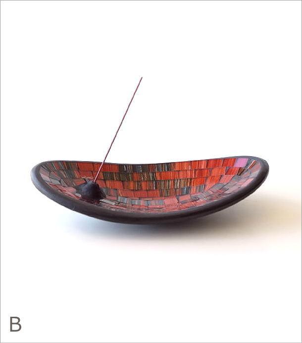 モザイクガラスのインセンスホルダー 2カラー(6)