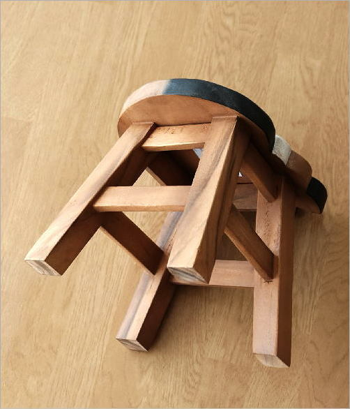 木製スツール 椅子 まる丸ネコさん(5)