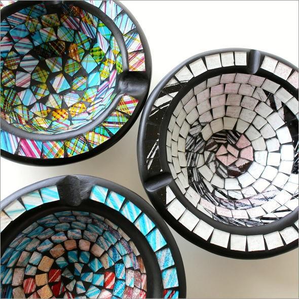 モザイク灰皿B 3カラー(1)