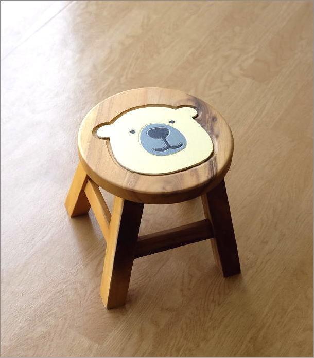 子供椅子 白くまくん(5)