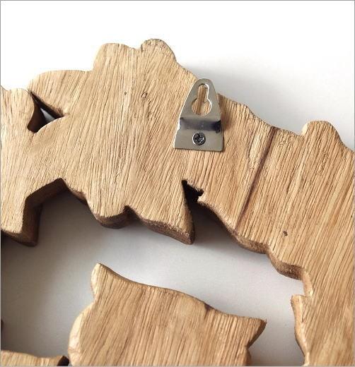 木彫りフクロウの壁掛けA(4)