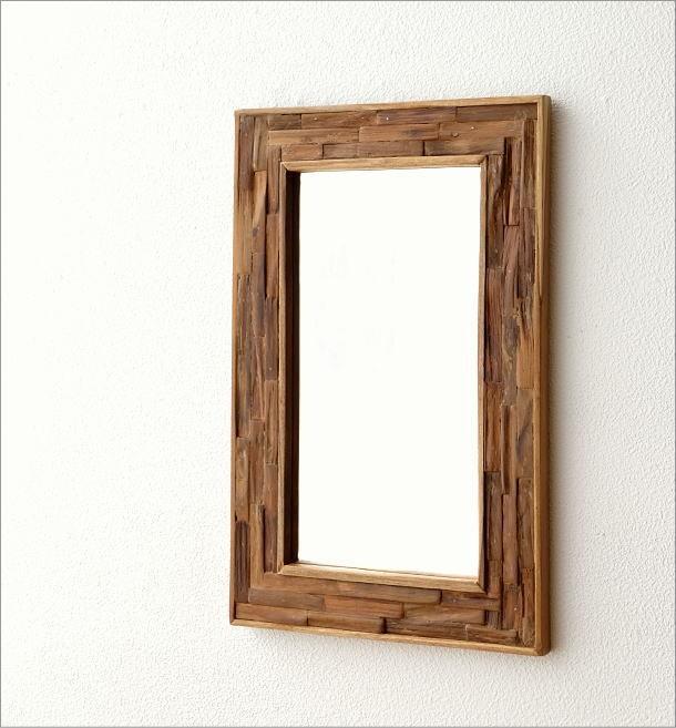 壁掛け組み木ミラー M(1)