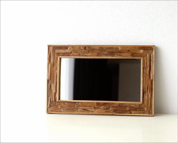 壁掛け組み木ミラー M(4)