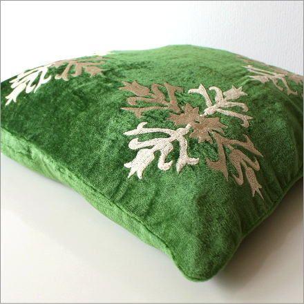 刺繍ベルベットクッションカバー 3カラー(3)