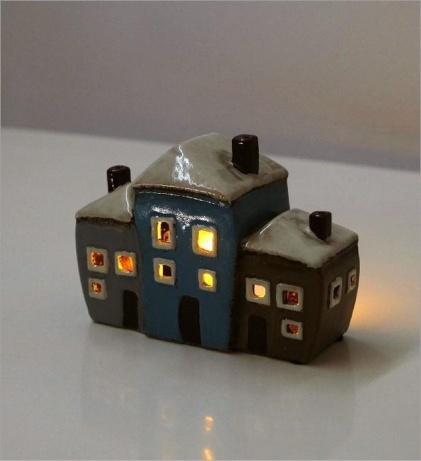 LED付きキャンドルハウスA(4)