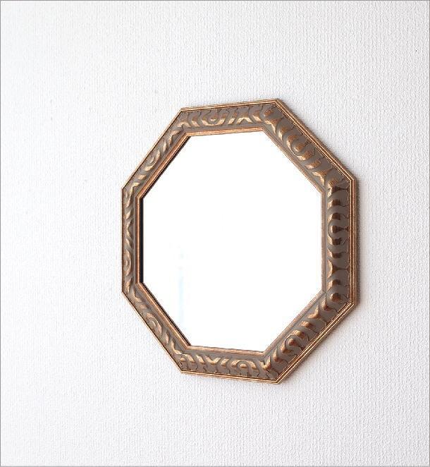 アンティークなミラー 八角(1)