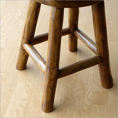 スツール 木製 チーク材 原木