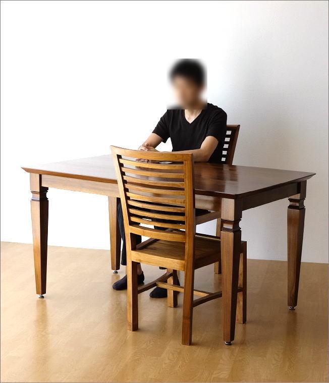チークダイニングテーブル135(6)