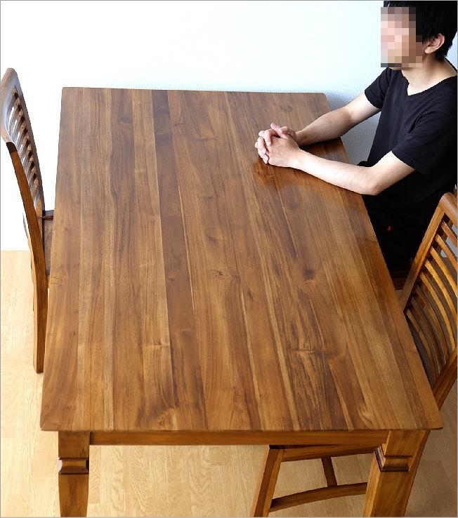 チークダイニングテーブル160(1)