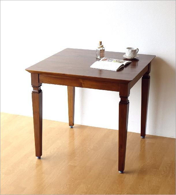 チークダイニングテーブル80(5)