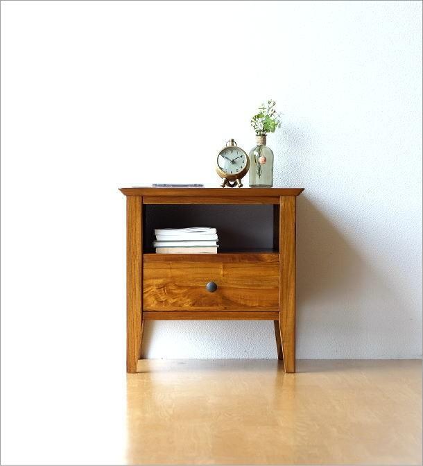 ベッドサイドテーブル チークサイドテーブル45(1)