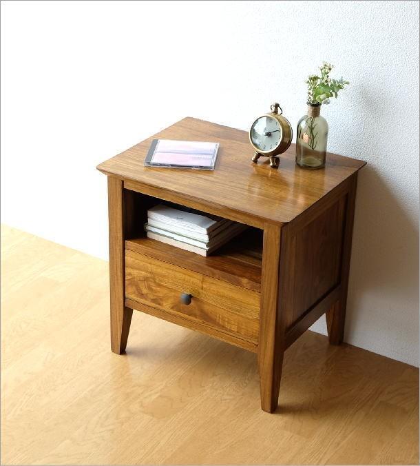 ベッドサイドテーブル チークサイドテーブル45(2)