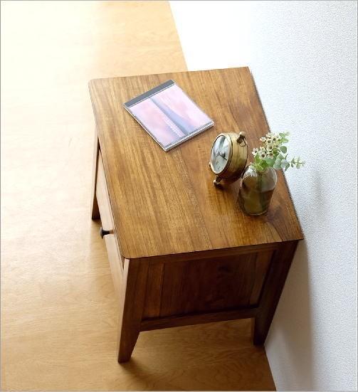 ベッドサイドテーブル チークサイドテーブル45(3)