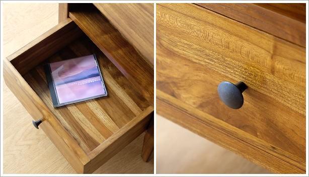 ベッドサイドテーブル チークサイドテーブル45(4)
