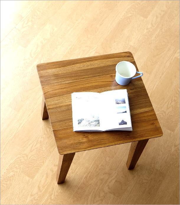 アジアン家具 テーブル チークコンパクトテーブル45(1)