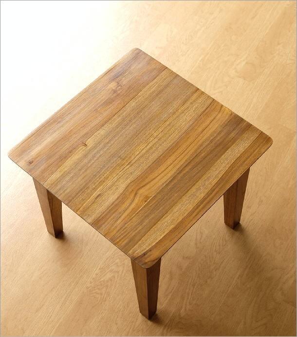 アジアン家具 テーブル チークコンパクトテーブル45(2)