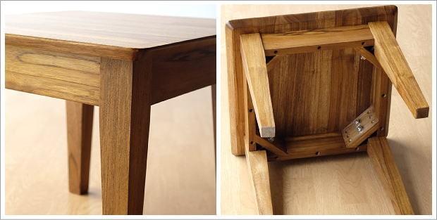 アジアン家具 テーブル チークコンパクトテーブル45(4)