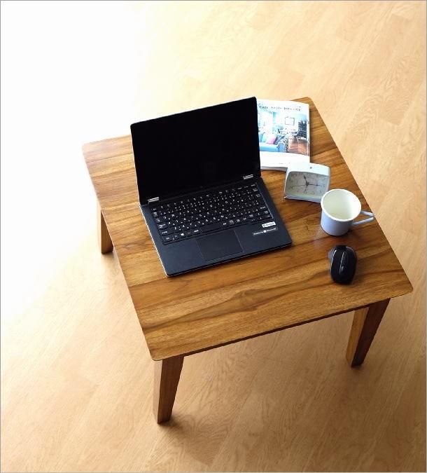 アジアン家具 テーブル チークコンパクトテーブル60(1)