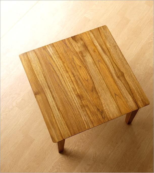 アジアン家具 テーブル チークコンパクトテーブル60(2)