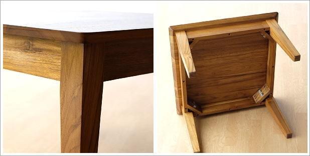 アジアン家具 テーブル チークコンパクトテーブル60(4)