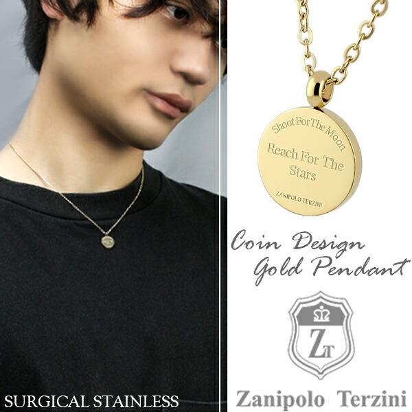 【Zanipolo Terzini】イエローゴールド コイン ネックレス