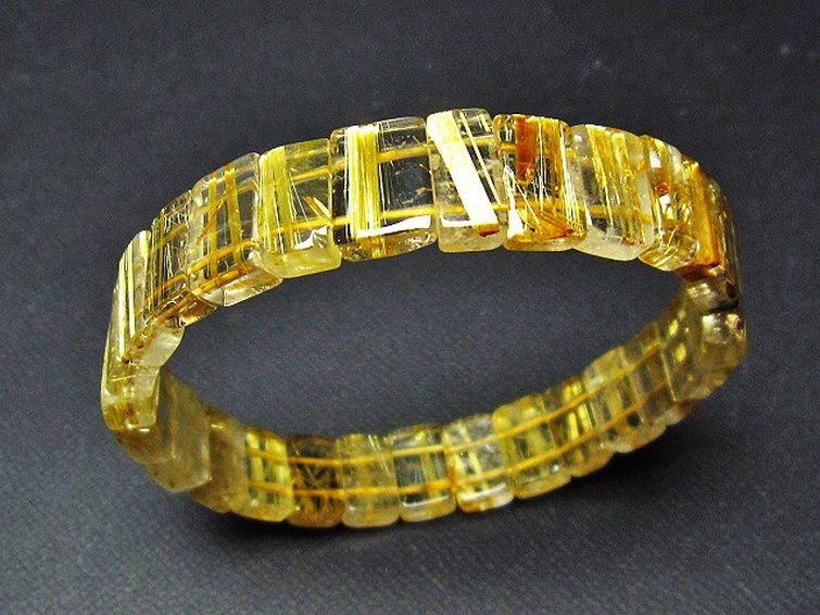 ゴールドタイチンルチルバングル T107-2992