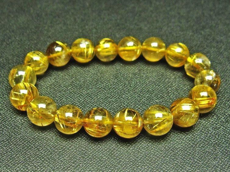 ゴールドタイチンルチルブレスレット T36-5627
