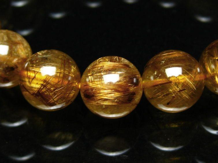 ゴールドタイチンルチルブレスレット T473-3551