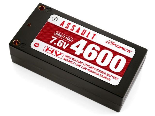 ジーフォース ASSAULT LiHV 7.6V 4600mAh (ショートタイプ) GFG802の商品画像|ナビ